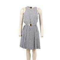 MICHAEL KORS Dress Black & White Gingham Cotton Size 6 / UK 10 BW 122