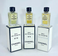 CHANEL Collection 3 mini perfume edt chanel 5, cristalle, chanel 19 new with box