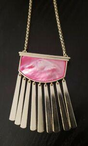 Free Ship Kendra Scott Ellen Pendant Necklace Gold Pink $110 Adjustable Chain