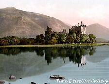Kilchurn Castle, Loch Awe, Highlands of Scotland - c1890 - Historic Photo Print