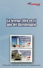 Chile 2010 Brochure -  La Serena in Bicentennary - no stamps