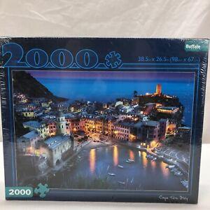 BUFFALO GAMES PUZZLE - CINQUE TERRE ITALY - 2000 PIECE JIGSAW NEW