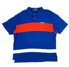 Vintage Polo Sport Ralph Lauren Color Block Striped Spell Out Polo Shirt XXL