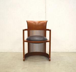 CASSINA 606 Barrel Chair FRANK Lloyd WRIGHT Kirsche Stuhl LEDER