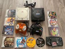 Sega Dreamcast White & Black Console + Extras