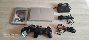 Console Playstation 2 Slim PS2 Silver Grise + Manette et un jeu SONY PAL FR