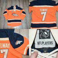 John Elway #7 Denver Broncos Hoodie Throwback Jersey Medium NFL PLAYERS