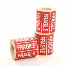 """1000 x Fragile Labels 89x32mm (3.5x1.5"""") Stickers"""