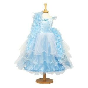 GIRLS FANCY DRESS FRILLY MILLY COSTUME AGE 3-5 YEARS BLUE & FEATHER BOA