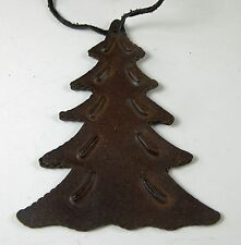 "Western Cowboy Christmas Ornament Painted ""Rusty"" Metal Fir Pine Tree Southwest"