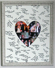 Framed Signature Signing Heart Shaped Board - Wedding Guest Book