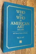 "Art, ""Who Was Who American Art,"" 3 Vol. Set, Biography, Scholarly Art Reference"