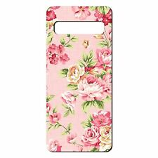 For Samsung Galaxy S10 Silicone Case Flowers Roses Pink Floral Pattern - S830