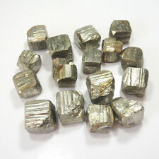 100g About 3-5 Pcs Iron Pyrite Cubes Raw Material Natural Stone Specimen Golden