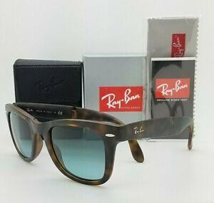 NEW Rayban Folding Sunglasses RB4105 894/3M 50 Tortoise Blue Gradient AUTHENTIC