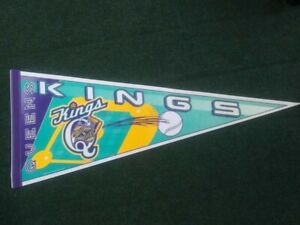 Vintage RARE QUEENS KINGS Baseball affiliated minor league pennant full size