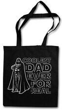 Coolest papà Hipster BAG-BORSA TESSUTO STOFFA sacchetto sacchetto Iuta-Darth Vader Daddy