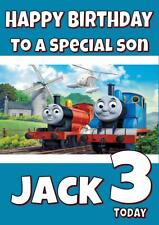 THOMAS THE TANK ENGINE PERSONALISED BIRTHDAY CARD - ANY NAME, AGE, RELATION