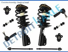 New 10pc Complete Front Quick  Strut & Spring  tie rods ball joints swaybar link