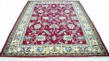 "Antique vintage handmade hand-knotted rug Persian design 80""x 114"" pure wool #10"