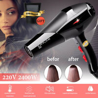 2400W Hair Dryer Professional Salon Styler Fast Drying 3 Heat 2 Speed + Nozzle