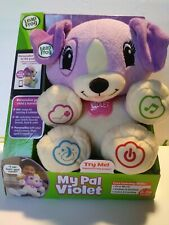 Leap Frog My Pal Violet Personalize Your Child's Learning Plush Puppy Songs NEW