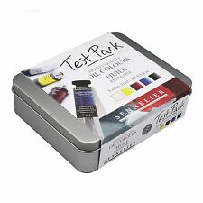 Sennelier artist oil colour paint Test Pack 21ml tubes 5 oil colours pack