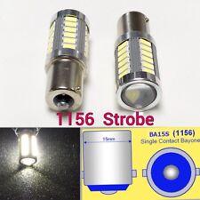 Strobe 1156 P21W 7506 33 LED Projector White Bulb Backup Reverse Light B1 USA Ja