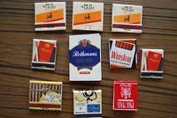 Lot de 10 boites Allumettes cigarettier divers complète avec sa ligne allumettes