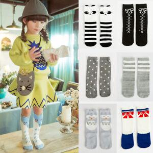 Kids Cute Socks Cartoon Cat/Fox/Panda Children High Knee Socks Leggings Girl