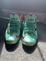 "Nike Lebron 11 ""Christmas"" Size 11 Green Red Xmas LBJ Xi"