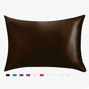 Pillow Case 2 pack, Queen Satin Pillowcase Cover with zipper for hair skin