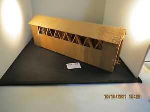 """Lot 23: Wood Covered Bridge 14 1/2"""" x 3 1/2"""" good condition nice detail HO"""