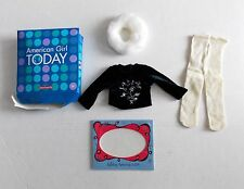 AMERICAN GIRL DOLL WINTER MAGIC OUTFIT NOT COMPLETE ONLY TOP COLLAR & TIGHTS NEW