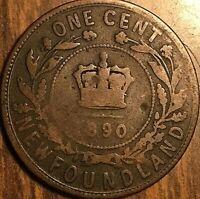 1890 NEWFOUNDLAND LARGE CENT LARGE 1 CENT PENNY