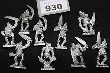 Warhammer Chaos Plaguebearers of Nurgle x9 Games Workshop Metal Figures Fantasy