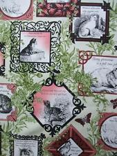 Cat-Centric Portraits Red Cats Kitty Phrases In The Beginning Fabric Yard