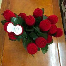 Red Rose Ring Box Velvet Jewelry Display Wedding Couple Gift Box Valentines Box