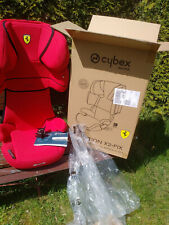 Ferrari Racing Red Restgarantie Cybex Solution X2-Fix Kindersitz Silver Scuderia