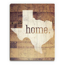 Texas Home Paper Mache - Texan Pride Wood Wall Art Print 16x20 NEW PRICE REDUCED