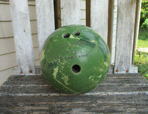 AMF Amflite Magic Line Bowling Ball Vintage Green Marble 13 Lb