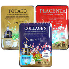3 pcs Face Mask Sheet Pack Facial Skin Care Moisture Essence Korea Beauty