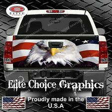 American Flag Eagle 1 Truck Tailgate Wrap Vinyl Graphic Decal Sticker Wrap