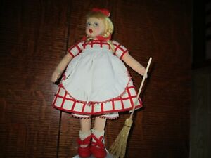 "9"" Antique Lenci Mascotte ""Sweeper""  Doll"