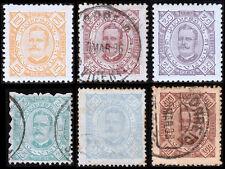 Cape Verde Scott 24, 26-29, 32 (1894-95) Used/Mint H F-VF, CV $17.95