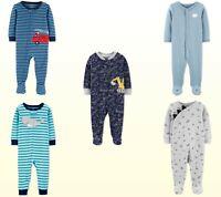 NWT Carter's Baby / Toddler Boys Long Sleeve Jumpsuit Sleeper PJ Sleep-N-Play