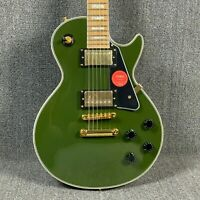 Solid Body Green Electric Guitar Gold Hardware Mahogany Body Maple Fretboard