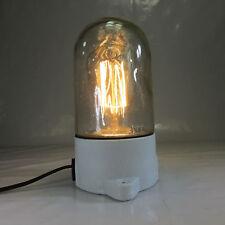 Bauhaus Glaskolbenlampe Keramik Sockel Art Deco Tischlampe Wandlampe Deckenlampe