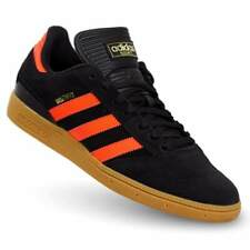 adidas Originals Busenitz Shoes Black / Solar Red Leather Trainers All Sizes