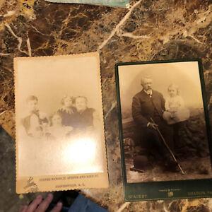 Antique Cabinet Card Photos Gloversville & Johnstown Northeastern New York 1897